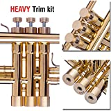 Trumpet Trim Kit for improving the sound. for all Schilke Trumpet. Custom made KGUBrass Trumpet caps (HEAVY, Raw Brass)