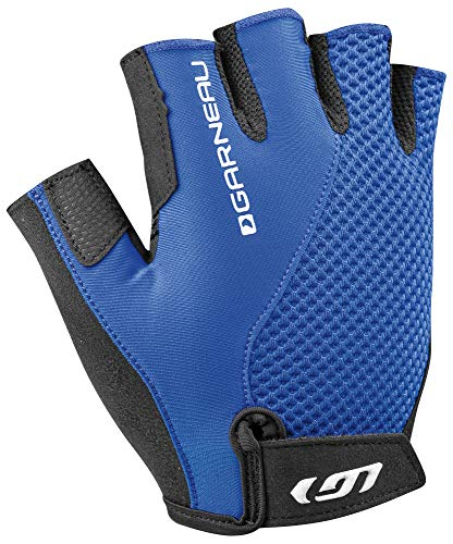 Louis Garneau Women's Air Gel + Padded, Breathable, Shock Absorbing, Half Finger Bike Gloves, Dazzling Blue, -