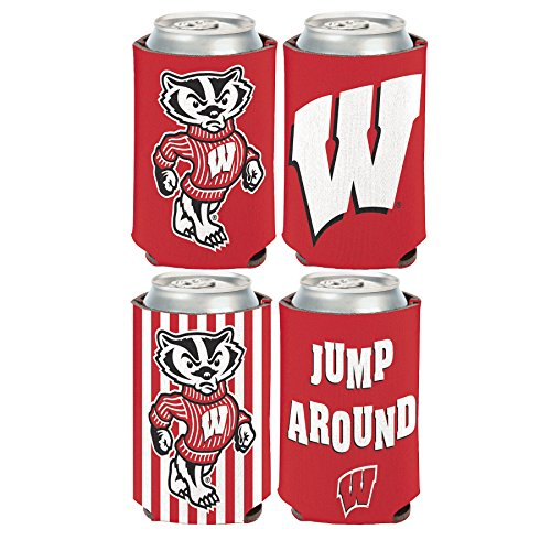 NCAA Wisconsin Badgers 2 PACK 12 oz. 2-Sided Can Coolers ()