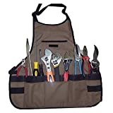 Novo Thickening Waterproof Oxford Garden Tool Apron With Multi-pockets 24-Inchx23.6-Inch (Coffee) for Working,Gardening,Kicthen Cooking,Harvest,Coffee Shop