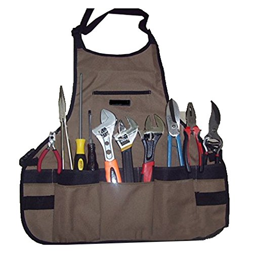 Novo Thickening Waterproof Oxford Garden Tool Apron With Multi-pockets 24-Inchx23.6-Inch (Coffee) for Working,Gardening,Kicthen Cooking,Harvest,Coffee Shop by Mr. Garden