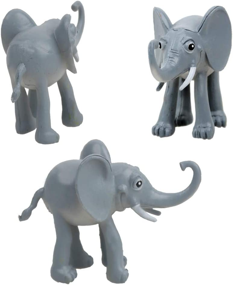 Cake Topper LW 6 Pcs Cute Miniature Animals Figure Characters Toys Mini Figure Collection Playset Plant Decoration