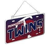 MLB Minnesota Twins 2015 Metal License Plate Ornament, Blue, One Size