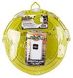 Flambeau Outdoors 6083FA Premium Fishing Bait Bucket Lid and Portable Aerator One Combo Pack, Live Bait Bucket Aerator and Lid, Lime Green/White