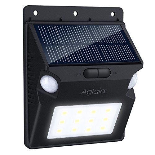 Aglaia Solar Lights Outdoor,Wireless 12 Led Motion Sensor Solar Light Outdoor with Wide Lighting Area,Easy Install Waterproof Flood Light Security Lights Outdoor Lights for Front Door,Back Yard,Garage 210 Multi Leds