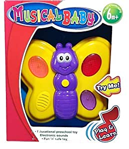 Amazon.com: Cute Butterfly Musical Baby Toy (6 Months and