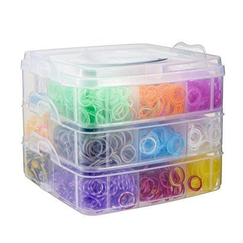 CO-Z 4800 Colorful Rubber Band Bracelet Loom Refill Kit Fun DIY for Kids w/Storage (Fun Loom)