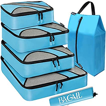 p USA Flags 3 Set Packing Cubes,2 Various Sizes Travel Luggage Packing Organizers
