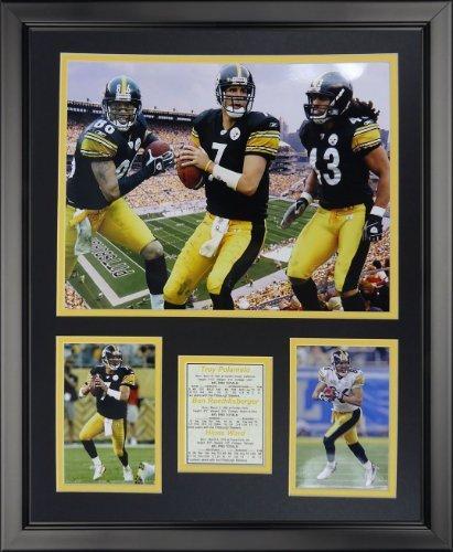 Legenden Sterben Nie Pittsburgh Steelers 2000 & 039;s Big 3 gerahmtes Foto Collage, 40,6 x 50,8 cm von Legends Never Die