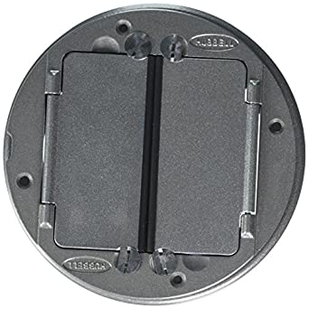 "Hubbell Wiring Systems S1TFCAL Aluminum Finish System One Universal Tile Cover, 5-5/8"" Diameter"