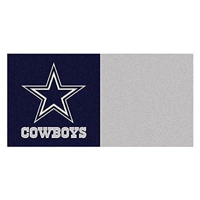 FANMATS NFL Dallas Cowboys Nylon Face Team Carpet Tiles
