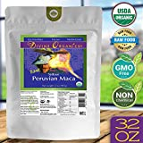 Divine Organics 2 Lb / 32 Ounce – Raw Peruvian Maca Powder – Certified Organic – Vegan, Antioxidant, Gluten Free – Mix in Coffee, Chocolate, Smoothies, Cereals – Yellow Peruvian Maca Root Review
