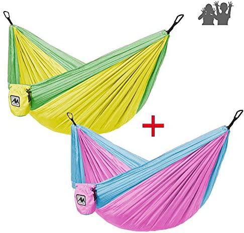 ayamaya Kids Camping Hammock Outdoor Gifts Stuff for Kid Child Girls Boys Toddlers, Ultralight Small Size Mini Hammocks with Strap Carabiner Sling Swing Tree Hammock for Indoor Outside Backyard