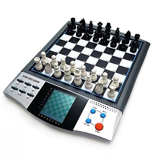 (iCore Magnet Chess Sets Board Game, Electronics Travel Talking Checkers Master Pro 8 in 1, Portable Chessboard Tournament for Kids and)