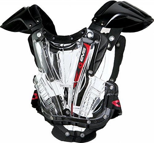 EVS  Sports VEXBK-M   VEX Chest Protector (Clear/Black, Medium) by EVS Sports