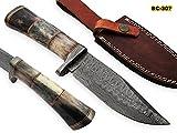 Cheap BC-307 Limited Edition – Custom Handmade Damascus Steel knife -Coloured Bone Handle