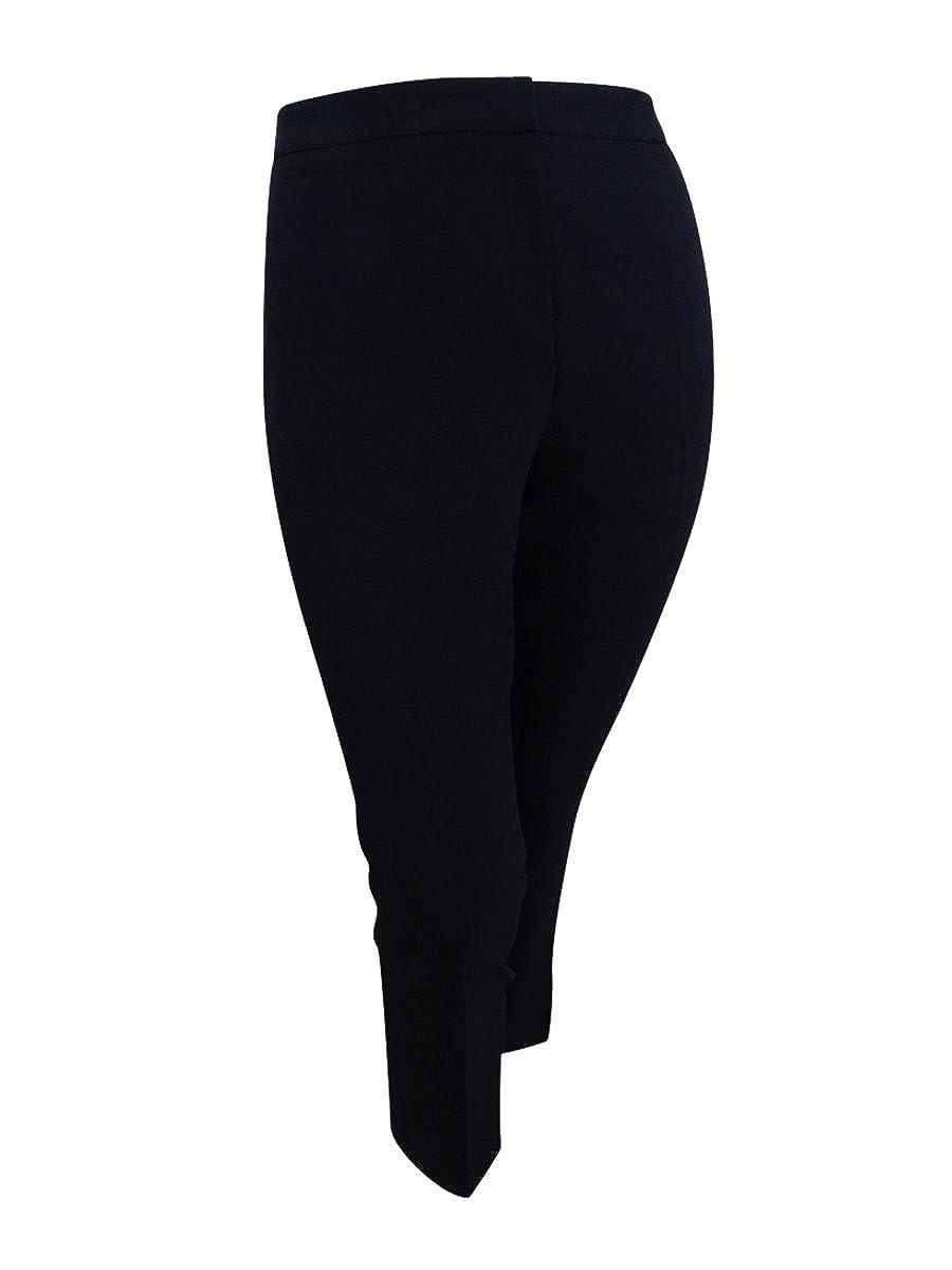 Kasper Womens Petite Size Stretch Crepe Slim Pant