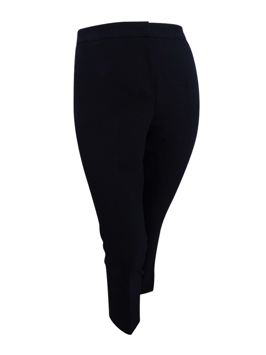 Kasper Women's Stretch Crepe Slim Pant, Black, 16