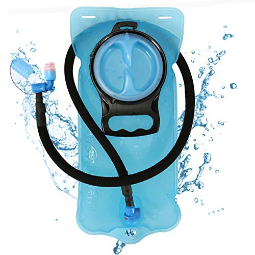 Yerwal 2 Litre Hydration Bladder for Backpack, Lightweight Outdoor Water Reservoir Storage Bag Hydration System, Suitable for Marathon Running Hiking Cycling Cycling Climbing - System Hydration Bag