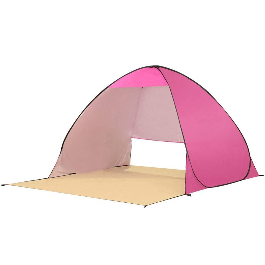 CATRP Marke Automatik Pop-up Strandzelt 2-3 Person Draussen Ultraleicht Sonnencreme Schnelles Öffnen Angelzelt, 4 Farben (Farbe   Rosa)