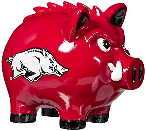 Arkansas Razorbacks Ncaa (NCAA Arkansas Razorbacks Poly Resin Hog Piggy Bank, One Size, Multicolor)