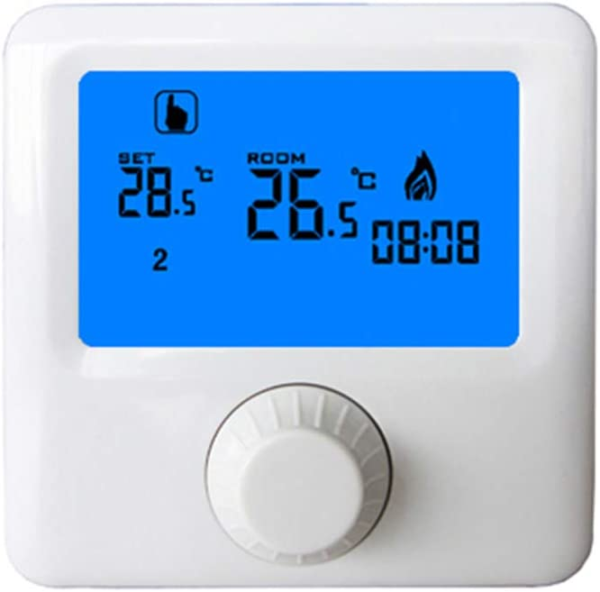 Haia7k4k - Termóstato de caldera de gas suspendida en la pared programable semanal, temperatura digital, termostato