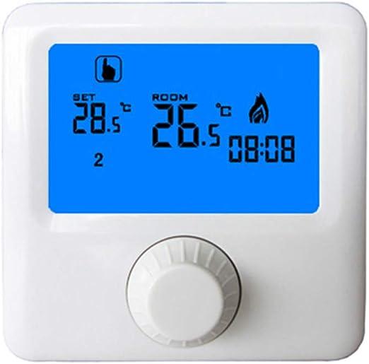 LCD murale Chaudi/ère Thermostat Affichage gaz hebdomadaire dambiance programmable Thermostat de chauffage R/égulateur de temp/érature num/érique Sunlera