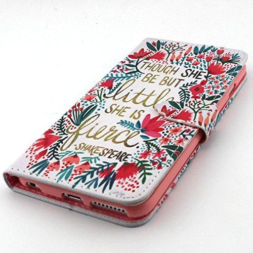 """UBMSA Iphone 6Plus (5,5 """")-portefeuille à rabat avec support et porte-carte de crédit en cuir à rabat avec fermeture magnétique, fonction nouvellement de préhension Soft Coque de protection en TPU ave"""