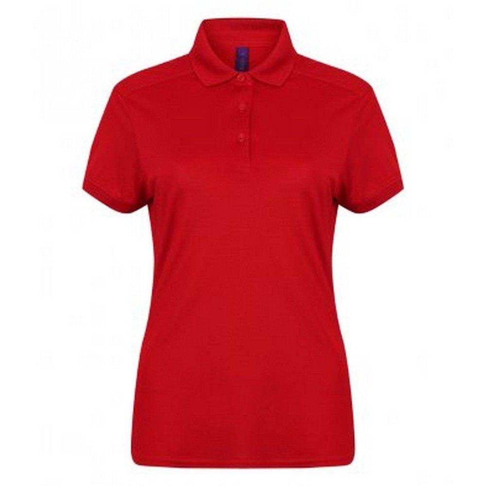 Henbury Womens/Ladies Stretch Microfine Pique Polo Shirt