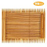 RELIAN Double Pointed Knitting Needles - 75 Pcs Bamboo Knitting Needles Set, 15 Sizes from 2.0mm-10.0mm, 8 Inches Length, Ideal for Socks, Gloves, Hats and Scarfs: more info