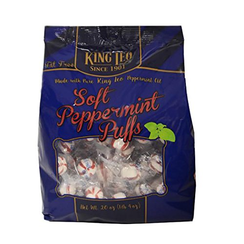 King Leo Peppermint Puffs - King Leo Soft Peppermint Puffs Fat Free 20 Ounce (Peppermint, 1-Pack)
