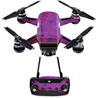 Skin for DJI Spark Mini Drone Combo - Purple Sky| MightySkins Protective, Durable, and Unique Vinyl Decal wrap cover | Easy To Apply, Remove, and Change Styles | Made in the USA