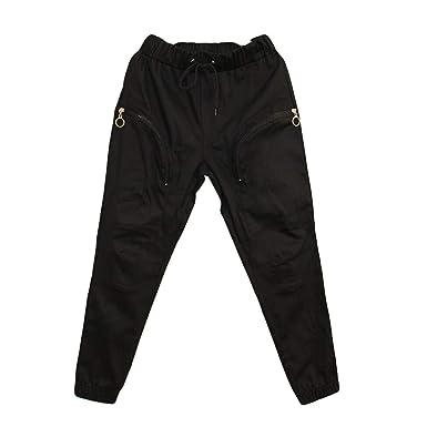 YiYLinneo Pantalones Hippies Hombre Invierno Bolsillo Moda ...