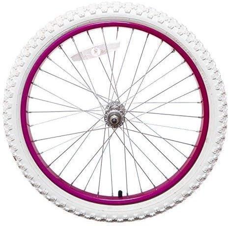 "KIDS 11/"" Rear PLASTIC Bike Bicycle WHEEL IN FUCHSIA PINK AND WHITE Childrens"