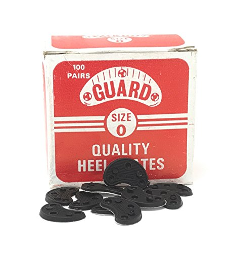 GUARD Quality Heel & Toe Plates Polyurethane (Plastic) Taps Savers 10 Pair Self-Adhesive with Nails! Made in USA! (#0) (0 Tap)
