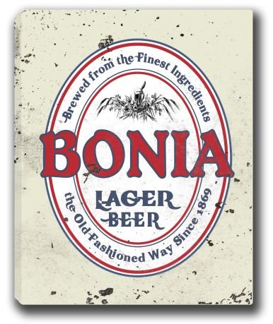 bonia-lager-beer-stretched-canvas-sign