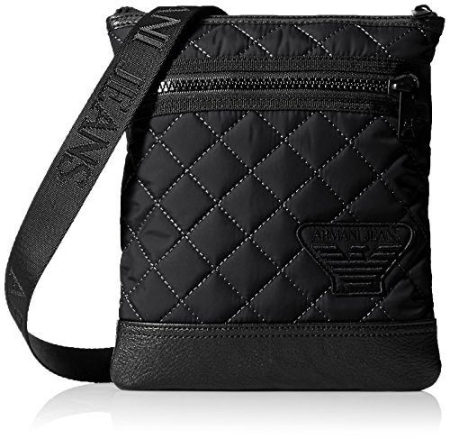 Armani Jeans Men's Quilted Crossbody - Armani Bag Men