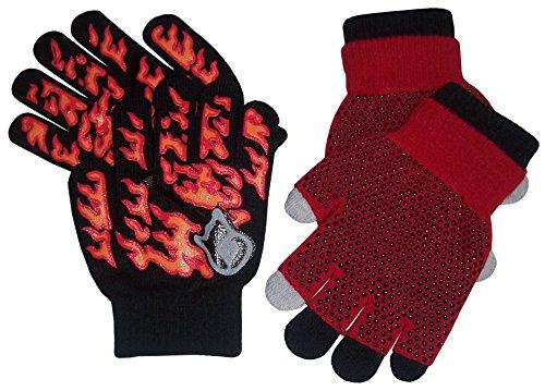 N'Ice Caps Boys Multi Pack Magic Stretch Glove Assortment (4-14yrs, black/red)