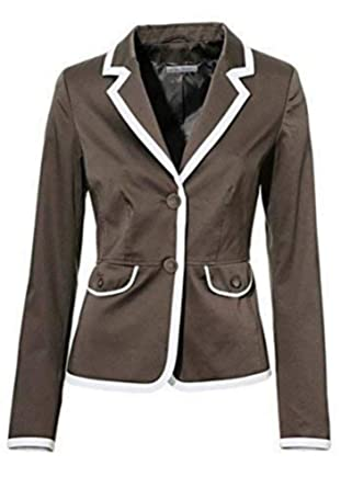 cheap for discount c2d01 aa8ef Blazer Short Blazer by Ashley Brooke in Taupe White - nature, 36
