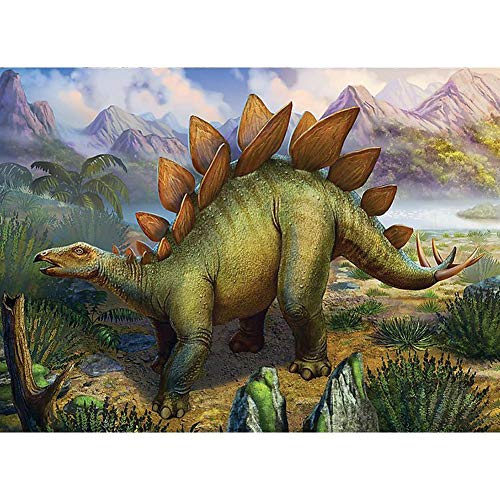 Diamond Painting Kits for Adults, Kids. Office Decoration, Home Room Dinosaur World 15.7x11.8in 1 Pack by May Bob