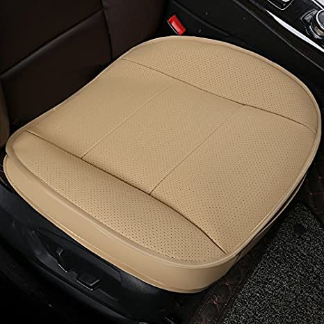 HCMAX Luxury Car seat Cover Cushion Pad Mat Protector for Auto Supplies for Sedan Hatchback SUV PU Leather - 2 Pack Front Seat Cover