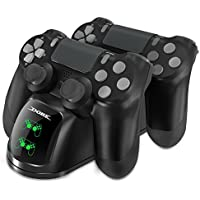 Dobe Dual Shock 4 Controller Charging Docking Station with LED Light Indicators Compatible with PS4/PS4 Slim/PS4 Pro Controller