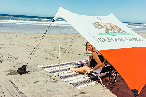 Neso Tents Beach Tent with Sand Anchor, Portable Canopy Sun Shelter, 7 x 7ft - Patented Reinforced Corners