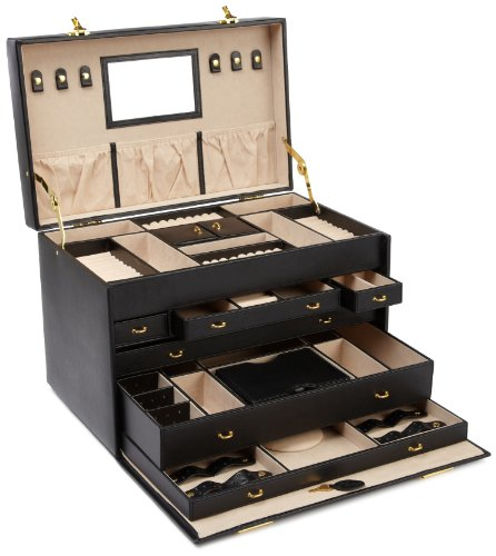 WOLF 280802 Heritage Jewelry Trunk, Black by WOLF (Image #1)
