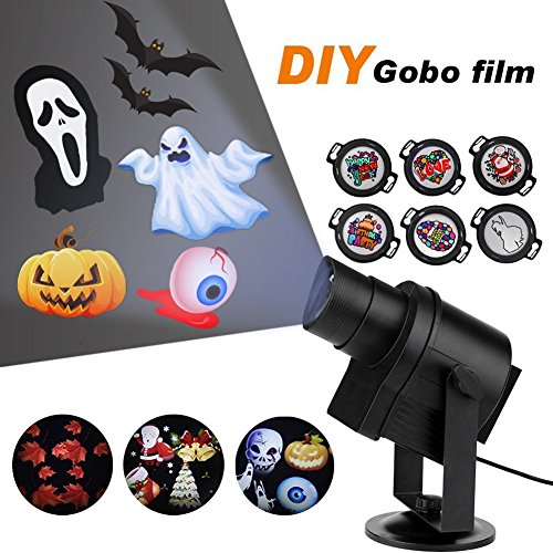 LED Projection Lights with Timer Image Motion Speed Control Projector Lamp For Christmas Party Festival decoration or Store, Coffee Shop, Hotels, Bar Logo Display (DIY (Party Store Logo)