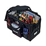 Husky 18 in. Large Mouth Bag with Tool Wall, Includes Bins, Dual-Zipper Top, Padded Shoulder Strap, Business Card Holder and Heavy-Duty Rubber Feet