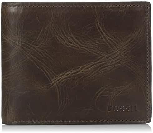 Fossil Men's RFID Blocking Derrick Bifold Wallet with Flip ID