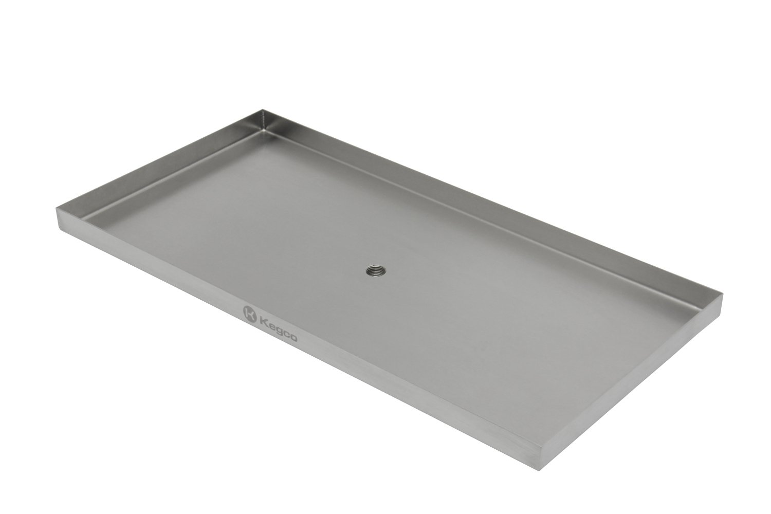 Kegco SESM-189D 18'' x 9'' Surface Mount Drip Tray with Drain by Kegco (Image #3)