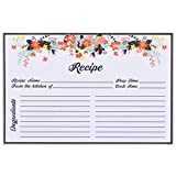 AKSHAYA Recipe Card Protectors - 100 Pack Clear