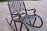 Oakland Living Mississippi Cast Aluminum Rocking Chair, Antique Bronze